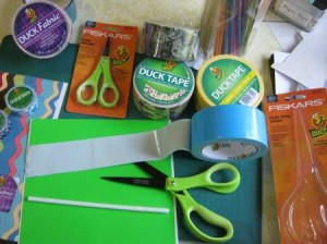 duck tape Fiskars scissors banner