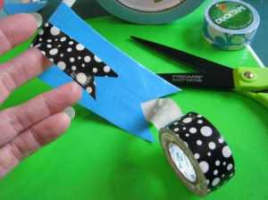 how to make Duck tape pennant banners