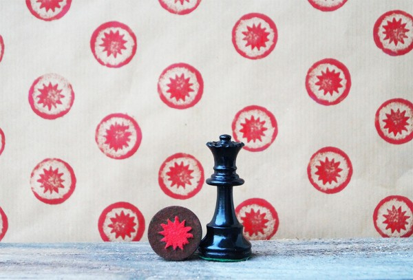 chess piece stamp