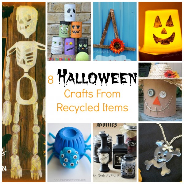 Recycled Halloween Decorations: 8 Halloween Crafts From Recycled Items