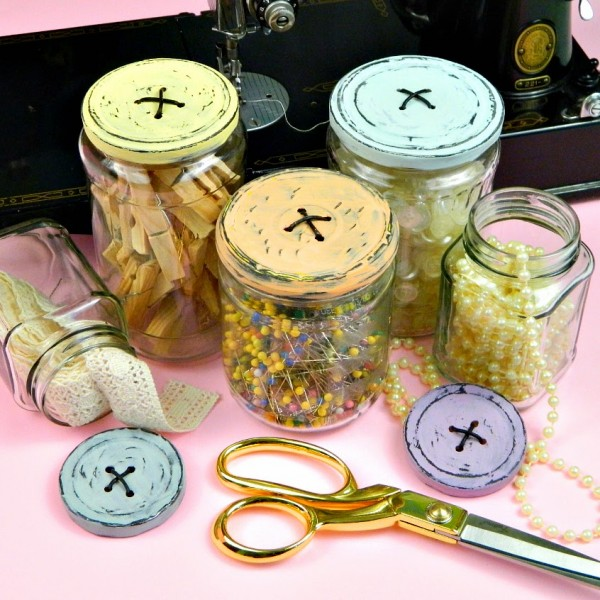 how to make button topped jars