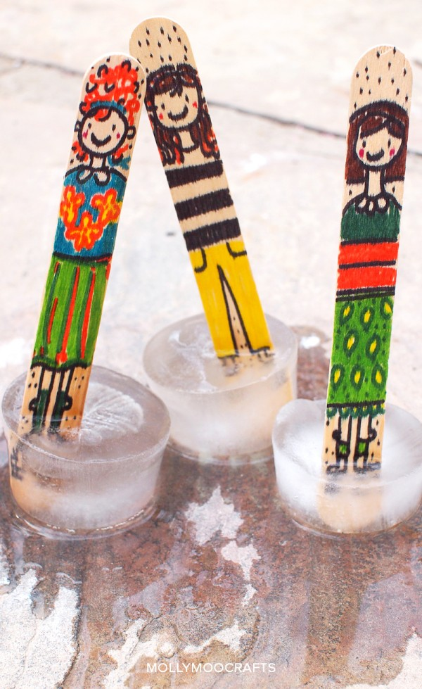 How to make ice-skating popsicle stick dolls