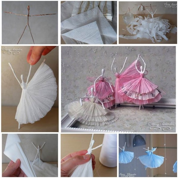 How To Make Paper Napkin Ballerinas Recycled Crafts