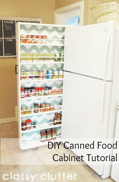 how to make a rolling shelf fridge