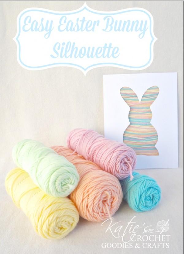 yarn bunny easter card