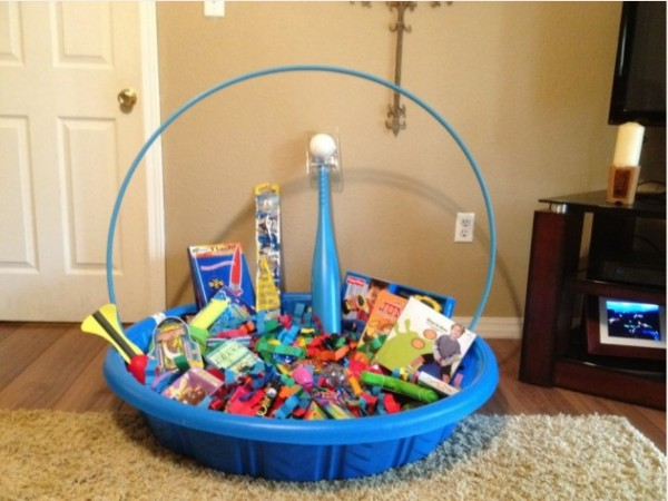 giant easter basket kiddie pool