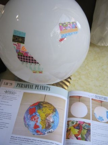 washi tape states on globe