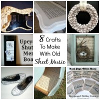 8 Crafts To Make With Old Sheet Music