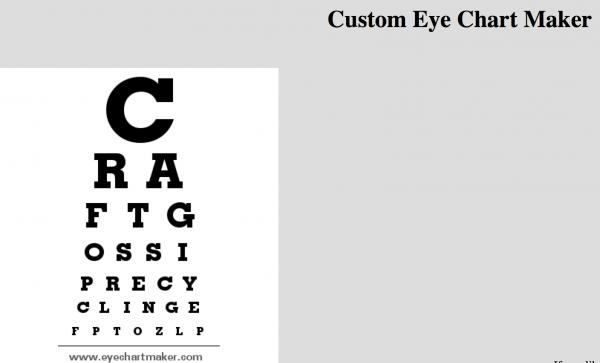 Custom Eye Chart Maker Web Site Recycled Crafts