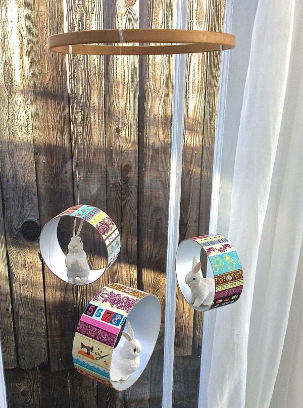 GoWashi tape recycled container mobile