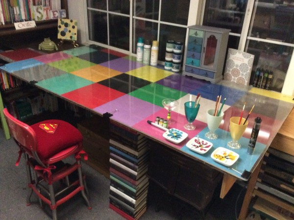 color block craft table stefanie Girard 2