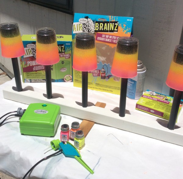 How to airbrush solar lights