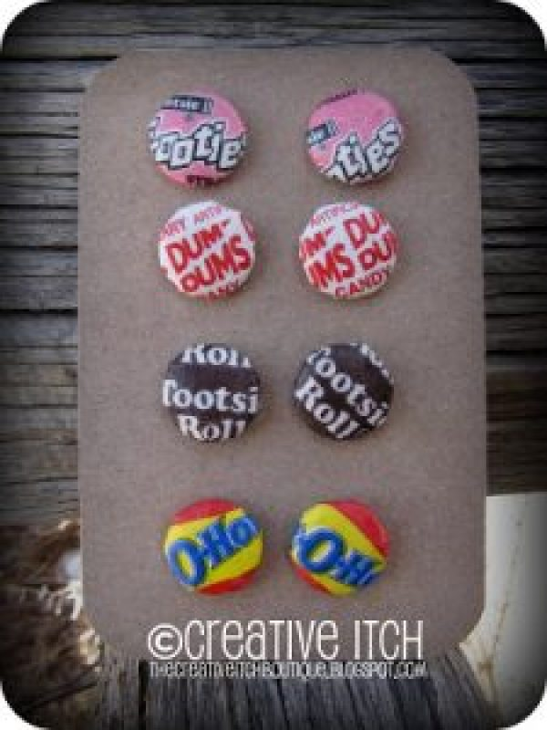 buttonearrings