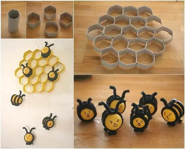 How To DIY Lovely Beehive And Bees Decoration