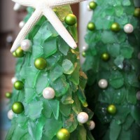 How to make sea glass Christmas trees