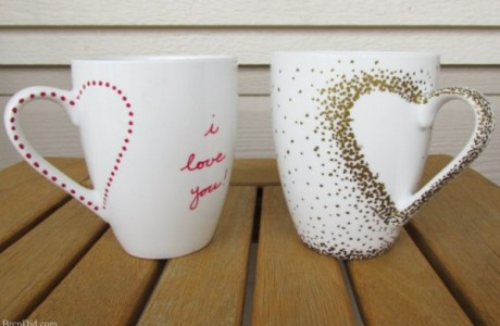 How to make mug handle hearts
