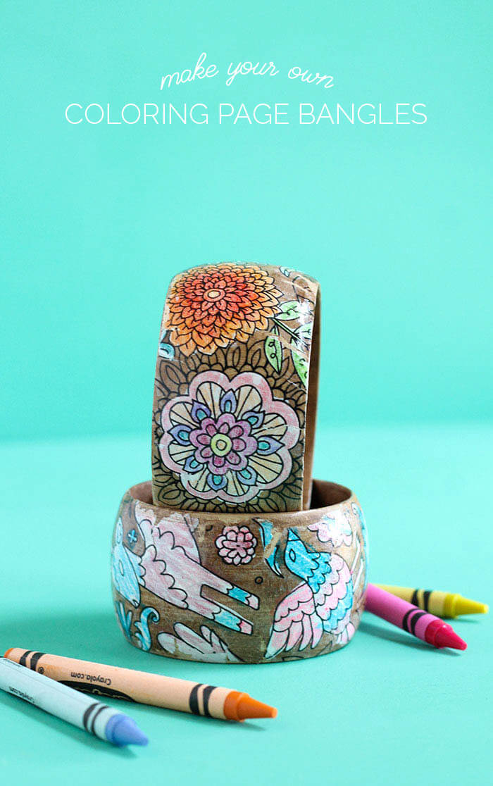 How to use your coloring pages to make jewelry