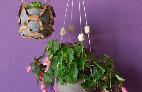 How to make an easy leather plant hanger