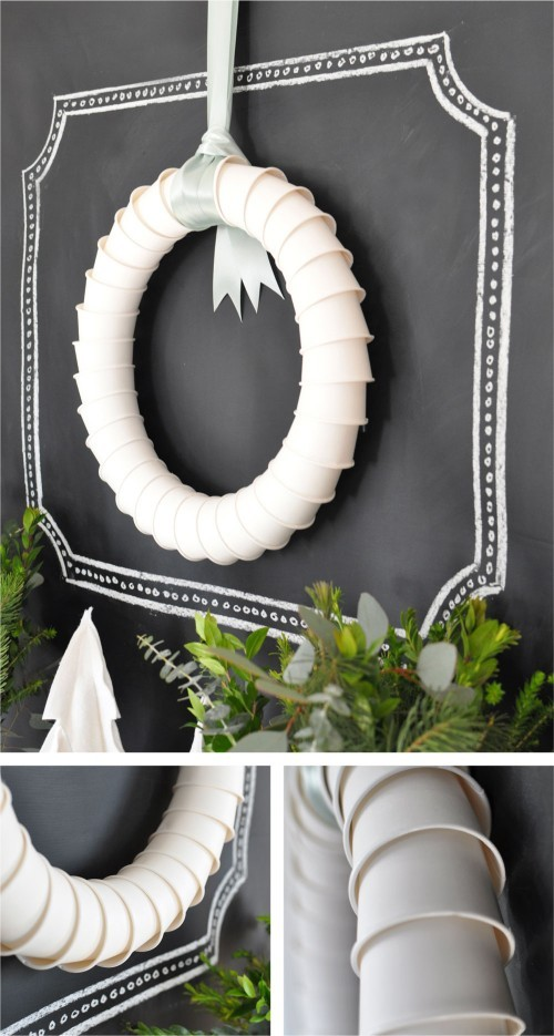Paper cup wreath and more fun recycling ideas