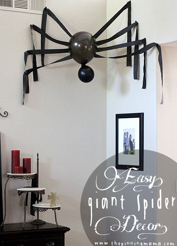 How to make a giant spider Halloween decoration