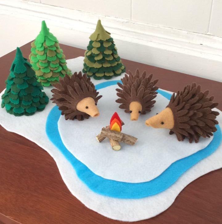 How To Make Die Cut Felt Hedgehogs And Christmas Trees