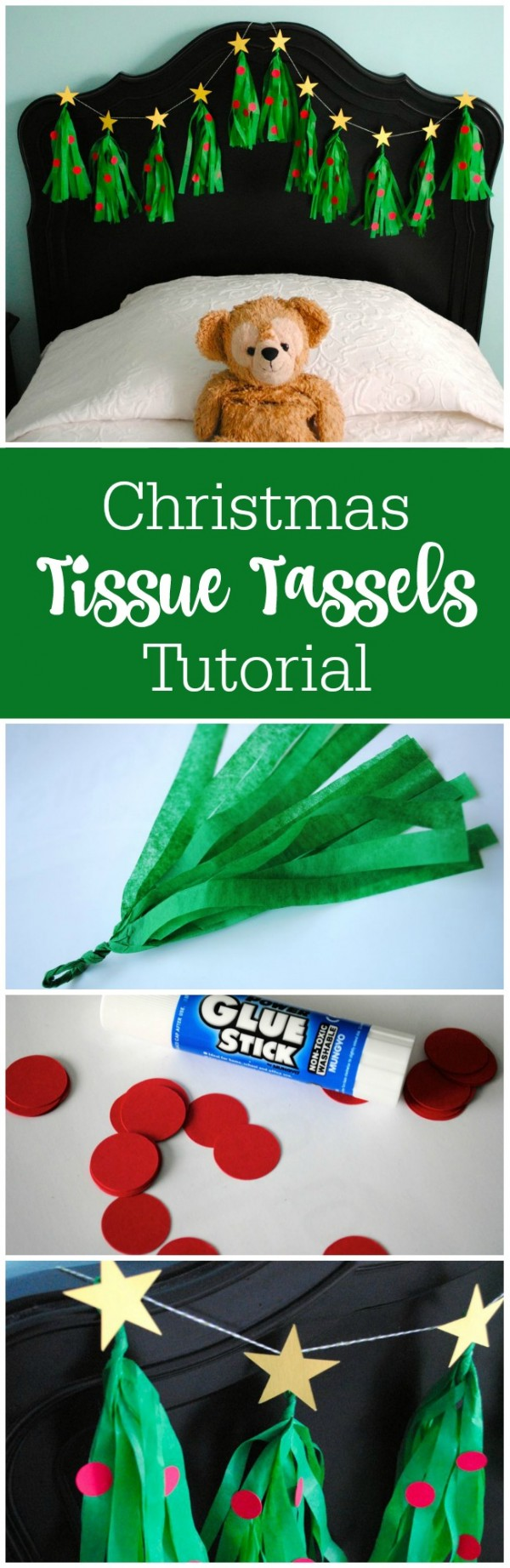 How to make Christmas tree tassel garland