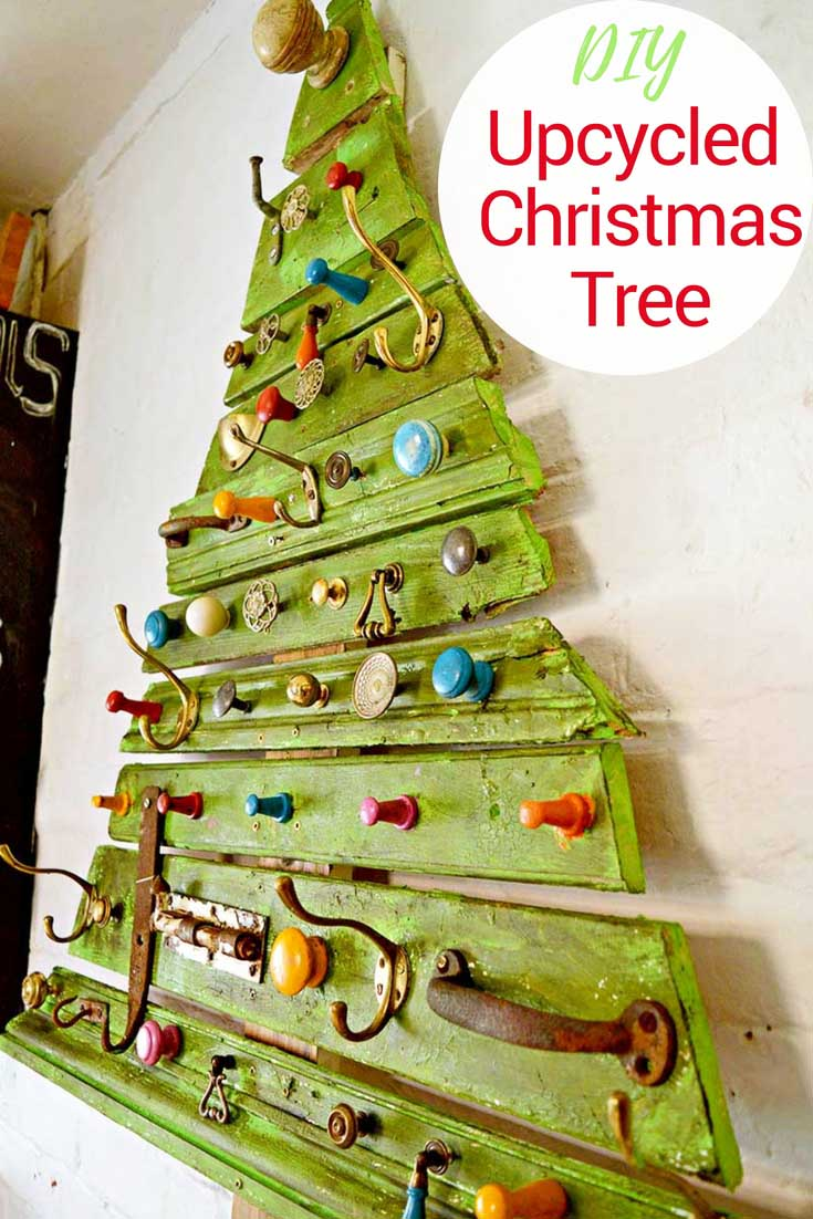 Christmas decor made from recycled materials : How to make a scrap wood christmas tree recycled crafts