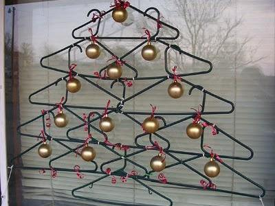 Recycled hangers can make a great Christmas tree