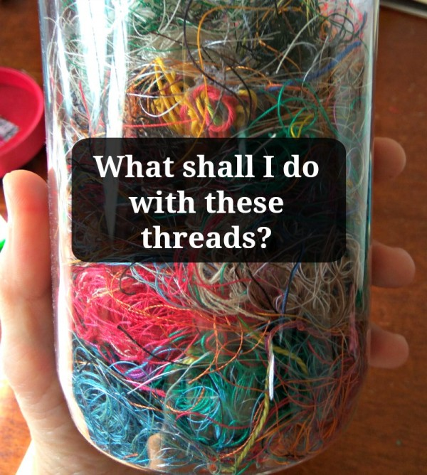 A bunch of fun recycled thread projects