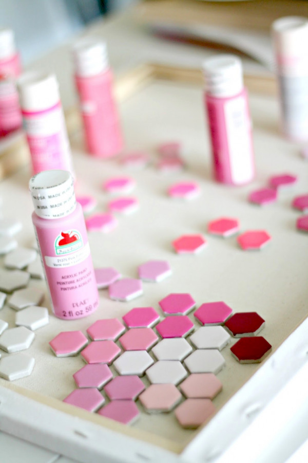 How to make a hexagon tile heart for Valentine's Day