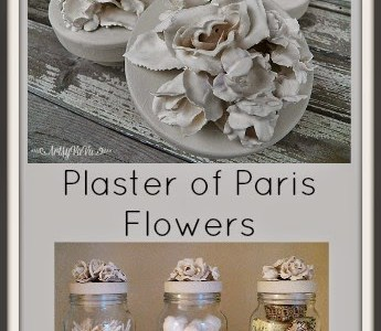 Easy way to make plaster flowers