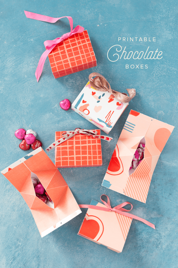 Cute printable box for treat giving