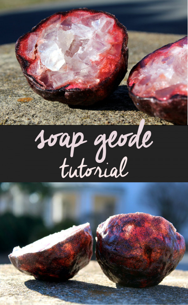 How to make soap geode