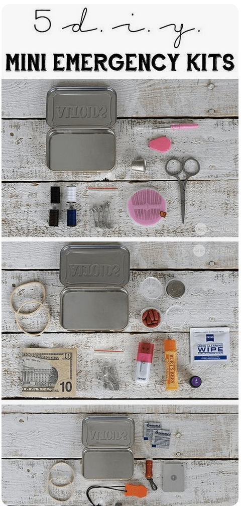 5 Emergency kits to make using an Altoids tin