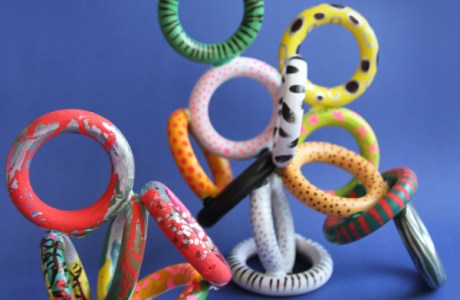 Recycled rings make great sculptures
