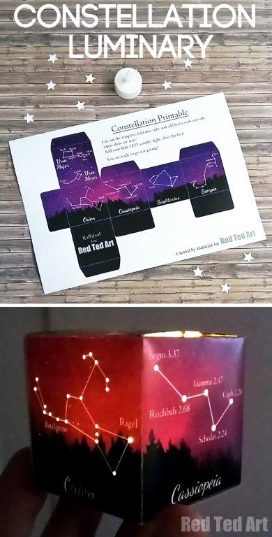 How to make a light constellation luminary