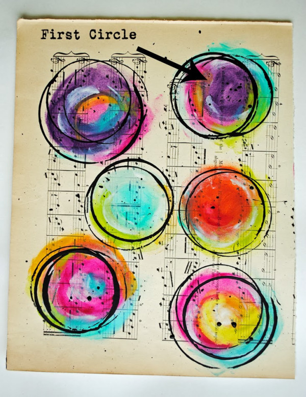 How to make beautiful abstract bubble art