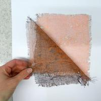 How to make mono prints with scrim fabric
