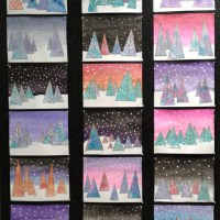 How to paint easy winter wonderland art