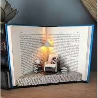 Amazing mini recycled book diorama