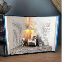 Amazing mini recycled book diorama