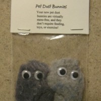 How to make adorable recycled dryer lint dust bunnies