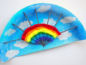 How to weave a rainbow with a recycled paper plate