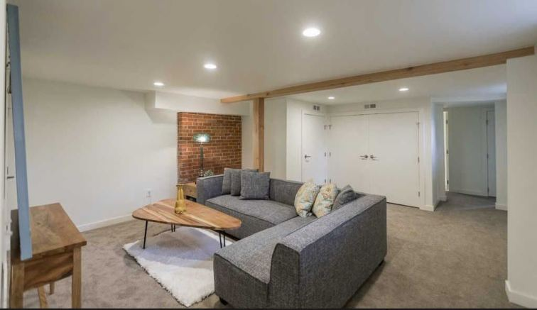 Basement Sectional Staging