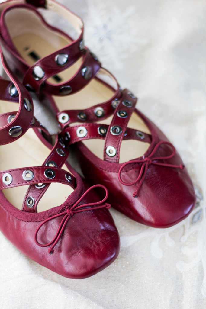 The Perfect Red Flats for the Holidays
