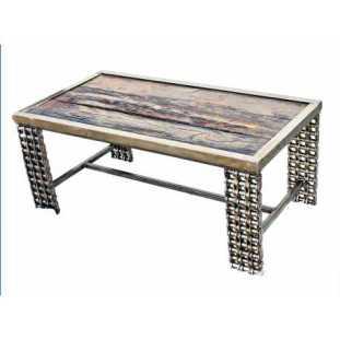 Rustic industrial Chic Coffee Table wood Metal Reclaimed Wood