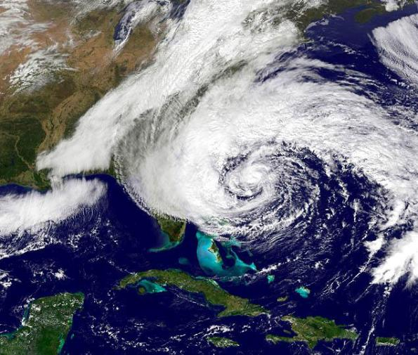 Hurricane Sandy Sunday Afternoon - from NOAA
