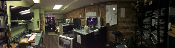 A panorama view of the Capitolmac sales floor in Fells Point, Baltimore.