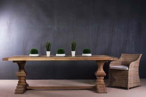 recycled teak furniture dining table