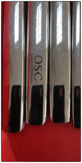 "New ""OSC"" silverware, finally replacing disposable items."